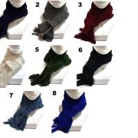 Syal rajut handmade dewasa scarf shawl SYAL-POLOS