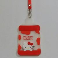 Kalung Tali Panjang Gantungan Kartu ID Card Karakter Hello Kitty