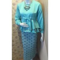 Jual setelan peplum batik kebaya kutubaru pesta kondangan cantik mewah Murah