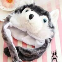 Jual Panda Hat Syal Pendek (Animal Hat / Topi Hewan) Murah
