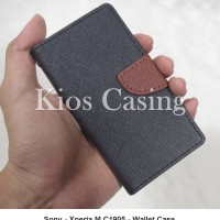 Sony Xperia M C1905 - Flip Cover Wallet Case Casing Sarung