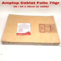 Amplop Coklat Folio isi 100