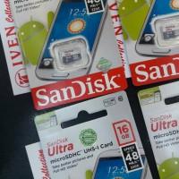Jual sandisk micro sd 16 gb memory card memori 16gb microsd 48 class 10 Murah