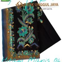 Jual Kain Batik Pekalongan Primisima Halus Hitam Manis 06 Unggul Jaya Murah