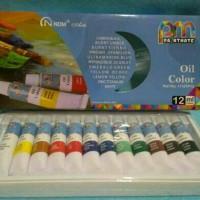Cat minyak / oil colours 12 warna merk NDM