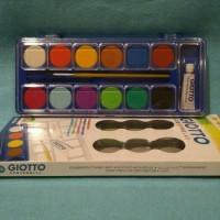 Jual Cat air / water colours 12 warna merk Giotto Murah