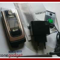 [Promo] Nokia 6555 Flip Beige / Gold | Nokia Jadul ORI | HP Jadul Mur