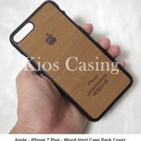 Jual Apple iPhone 7 Plus - Wood Hard Case (Back Cover Casing) Murah