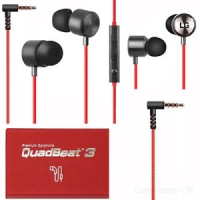 Handsfree Headset Earphone LG G4 Quadbeat 3 Original ORI RED