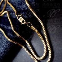 Yaxiya kalung milano kotak perhiasan imitasi lapis emas 18k 474
