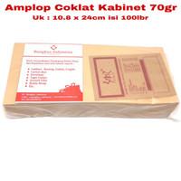 Amplop Coklat Kabinet 80gr 10.8x24cm isi 100lbr