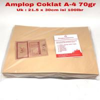 Amplop Coklat A-4 isi 100lbr