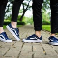 Sepatu vans oldskool navy/biru dongker TERMURAH
