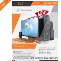 Paket PC Komputer Desktop untuk anak sekolah,Kantor, game ,desain