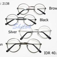 Jual Kacamata Kekinian Gaya Bulat Bundar Boboho John Lennon Besi Murah