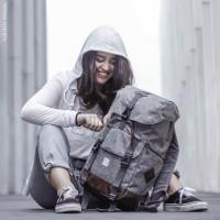 Ransel VV Metro Grey | Tas Backpack Distro Rucksack Keren punggung Abu