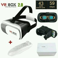 VR BOX 3D 360 + REMOTE REMOT VIRTUAL REALTY 2.0 BARU