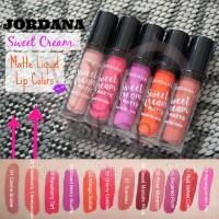 100% ORIGINAL JORDANA Sweet Cream Matte Liquid Lip Color Lipstick ORI