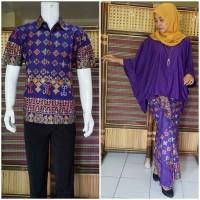 harga Couple Batik | Baju Couple | Sarimbit Batik Muslim Bsg581 Ungu Tokopedia.com