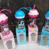 Botol minum anak gambar mickey minnie doraemon HK bentuk ice cream