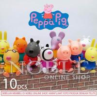 PROMO 10 pcs Peppa Pig Figure-Babi Lucu-Pajangan-Animal-Toys/Mainan-LB