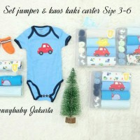 jumper bayi carter set kaos kaki / jumpsuit bayi carter