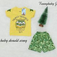 setelan disney baby donald army size 1 tahun - 3 tahun