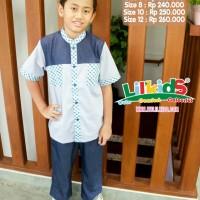 Baju Muslim Anak Putra H 23 Abu Size 2 RP 189.000