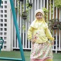 Baju Muslim Anak Vania Kuning Size 4 RP 115.000