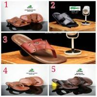 Jual sandal kulit pria / sendal jepit kulit flip flop / sandal santai Murah