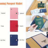 Anti Skimming Cover Passport Wallet Dompet Paspor banyak sekat