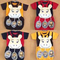 Harga baju kodok setelan bayi laki lucu 3d jumper colorful menonjol 2pcs | Pembandingharga.com