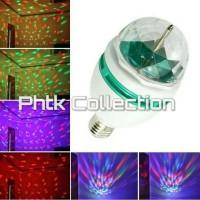 Crystal Ball Rotating LED Mini Stage Light Bulbs Disco Party Bulb Lamp