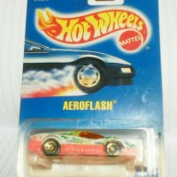 hot wheels aeroflash blue card