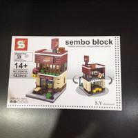 lego sembo block pizza hut murah