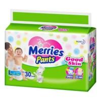 MERRIES Popok Pants Good Skin L 30 (khusus via Gosend / Gojek)