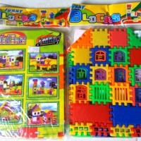 mainan lego / funny blocks / brick susun bentuk rumah / building block