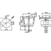 ROUND ROCKER SWITCH BULAT SAKLAR ON OFF 15 MM 3A 250V KCD11-105 SPST