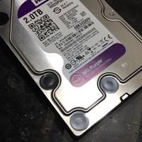 HDD Harddisk WDC WD Purple 2TB Khusus untuk DVR CCTV 24 Jam