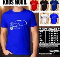 KAOS MOBIL BMW Serie 3 GT SILUET 1/ Kaos Distro Baju T-shirt Otomotif