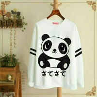 Sweater White Pandaan / Sweater Wanita / Sweater Murah