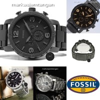 Jam Tangan Pria Fossil Nate Chronograph Stainless Steel Limited