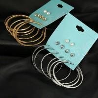Anting 1 Set isi 6 pasang / bulat dan lingkaran / earrings / giwang