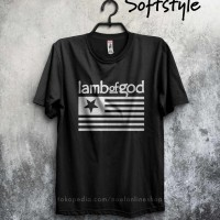 baju pakaian kaos band metal lamb of god log pure american metal