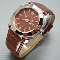 harga Jam Tangan Pria Bvlgari Leather Light Brown Rg Plat Brown Tokopedia.com
