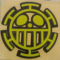Sticker Cutting Logo Anime Trafalgar Law