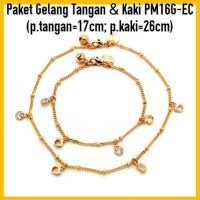 Jual Paket Gelang Tangan&Kaki Perhiasan Lapis Emas Gold PM16G Murah