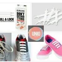 Jual Pull & Lock 100% Silcone Shoelaces - Tali Sepatu Unik Bahan Silikon Murah