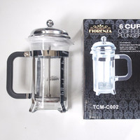 6 Cup Coffe Plunger French Press Tea & Coffee maker 600ml Florenza