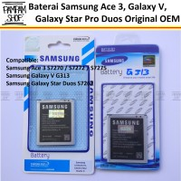 Baterai Handphone Samsung Galaxy Ace 3 S7270 Original | Battery, Sein